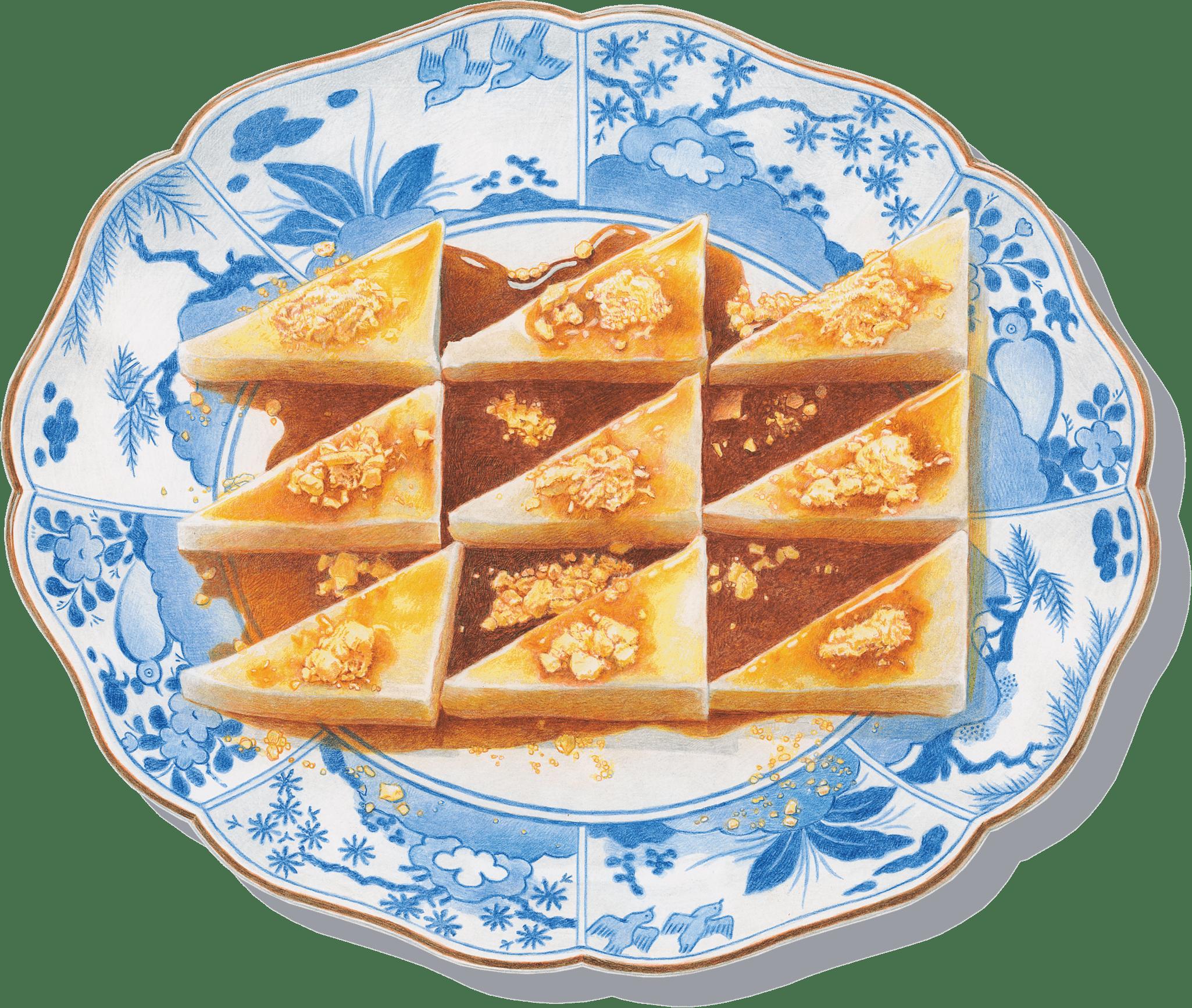 古伊万里に江戸久寿餅